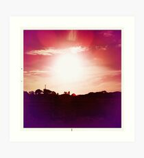 Red Hot Sunset Art Print