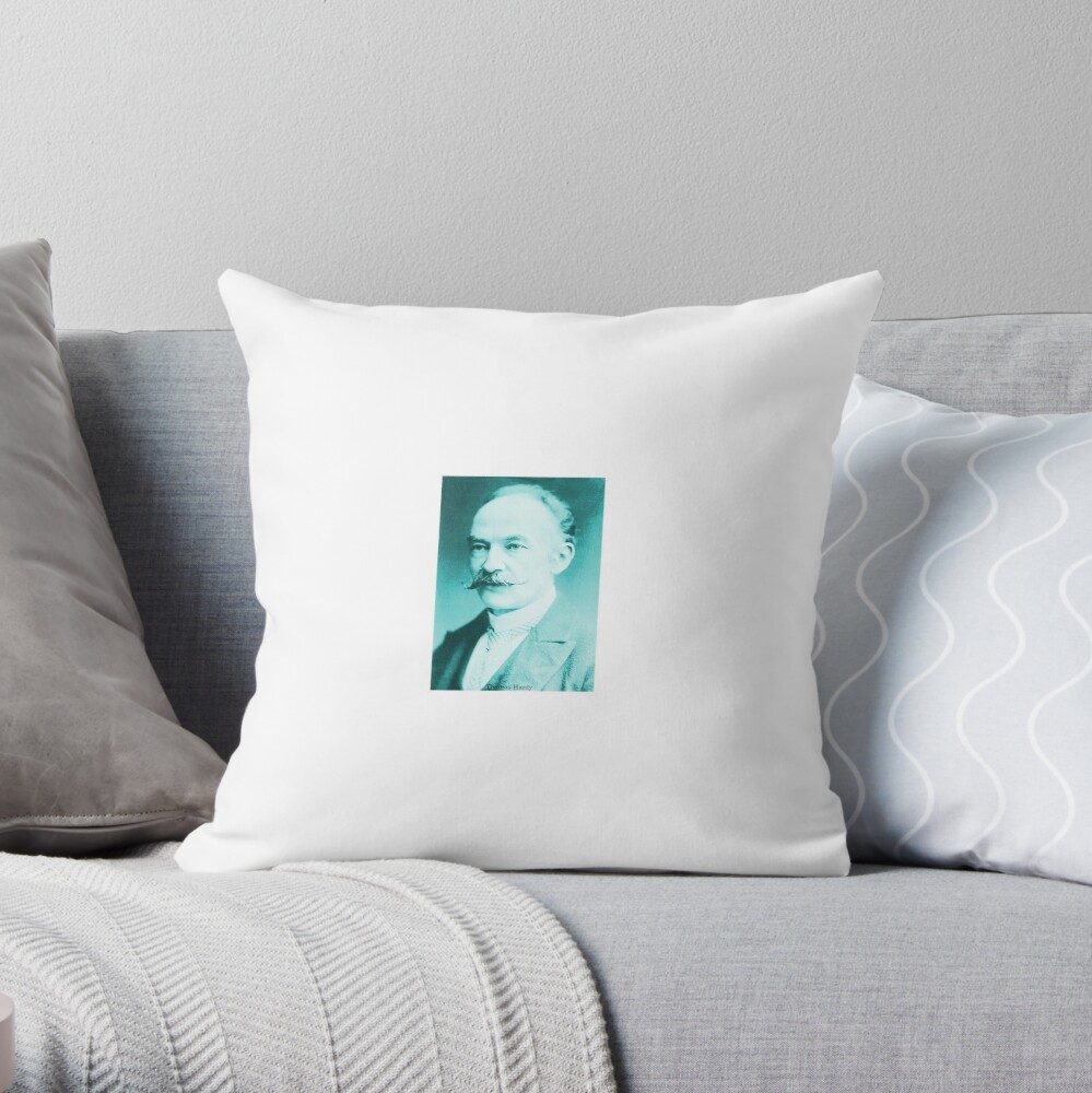 Thomas Hardy, English novelist and poet. Throw Pillow
