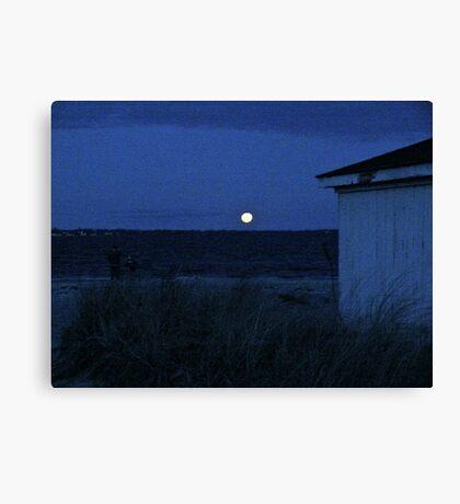 Perigee Moon At Third Beach - Newport - Rhode Island Canvas Print