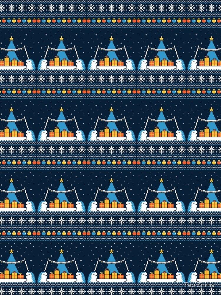 Christmas Narwhals by theodorezirinis