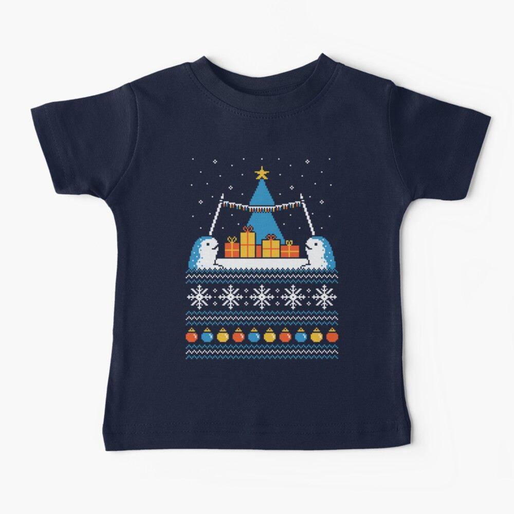 Christmas Narwhals Baby T-Shirt