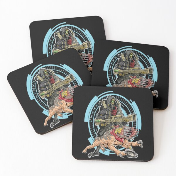 FL4K The Beastmaster With Guard Skag Borderlands 3 Rakk Attack! Coasters (Set of 4)