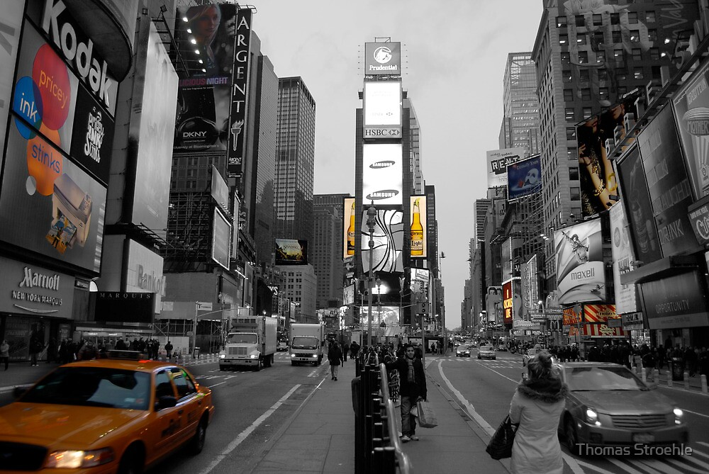 Cab at Time Square 2 by Thomas Stroehle