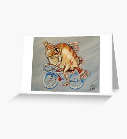 Boarfish On A Bicycle Greeting Card