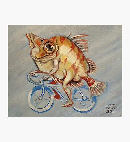 Boarfish On A Bicycle Photographic Print