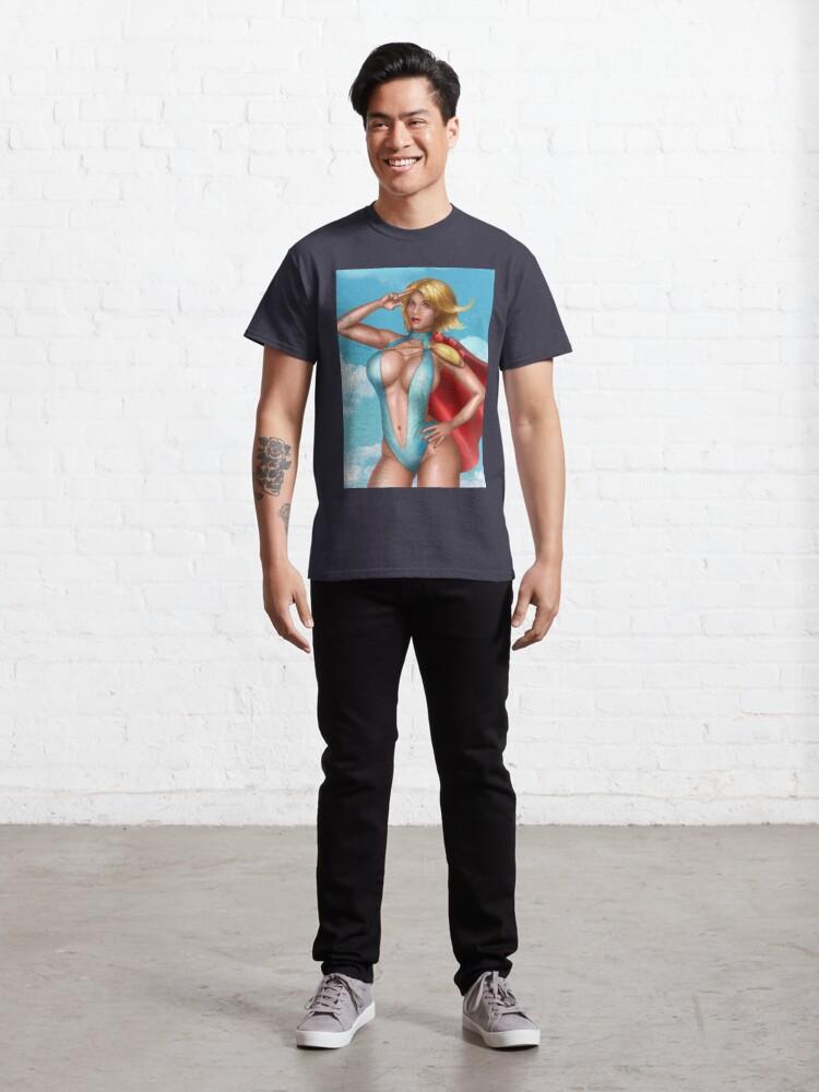 Alternate view of Superhero Bikini Classic T-Shirt