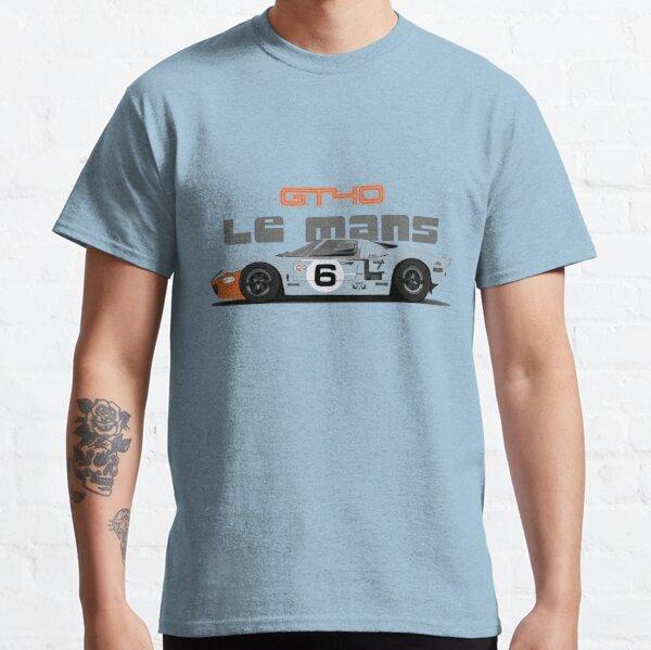 CLASSIC CAR RETRO RACER RACE CAR GT-40. FORD GT40 t-shirt GT 40