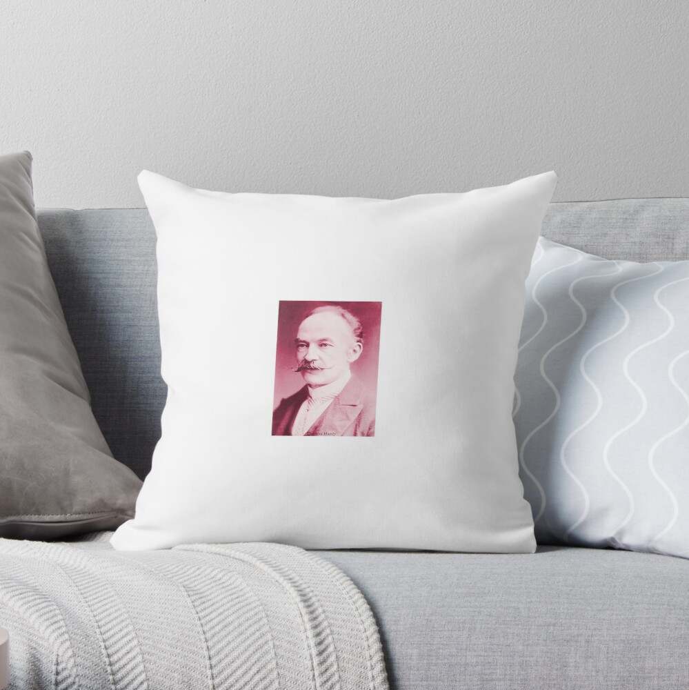 Thomas Hardy OM,  English novelist and poet. Throw Pillow