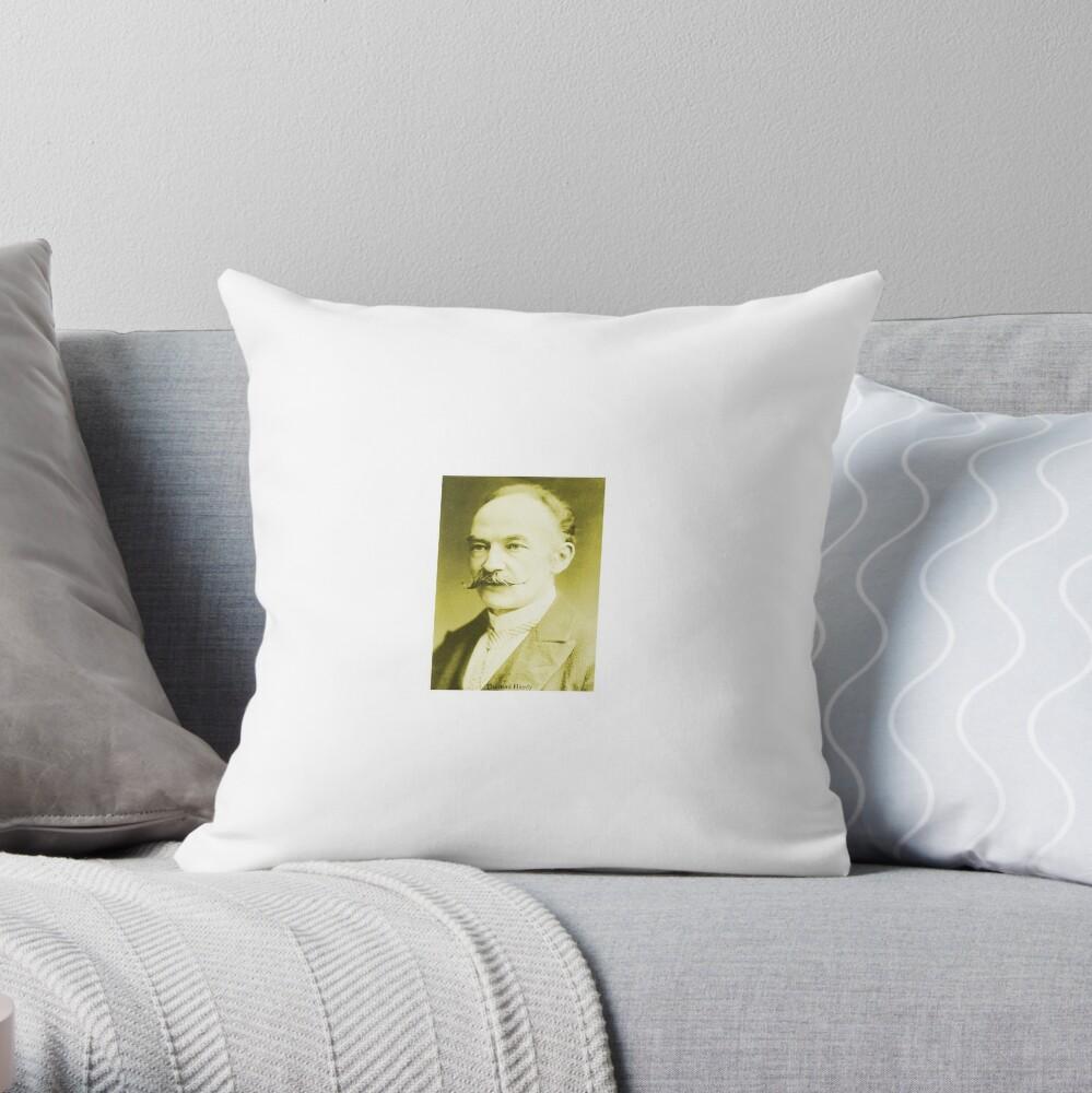 Thomas Hardy OM, English novelist and poet. Throw Pillow