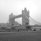 Tower Bridge Black and White by Hucksty