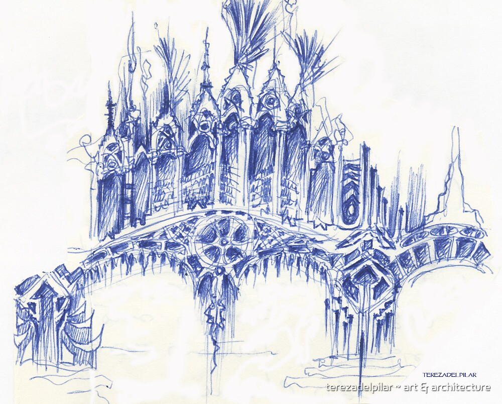 sketch for a bridge by terezadelpilar ~ art & architecture