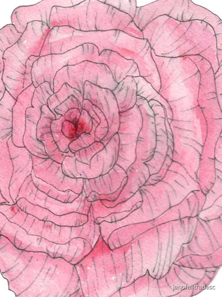 Watercolor Peony by jenofalltradesc