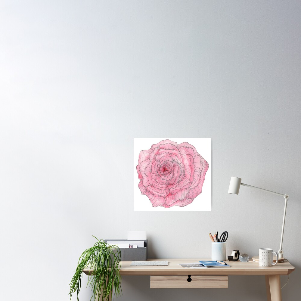 Watercolor Peony Poster