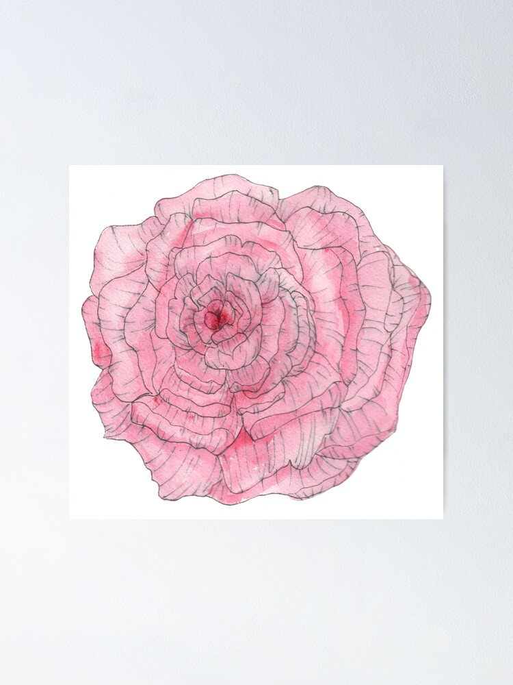 Alternate view of Watercolor Peony Poster