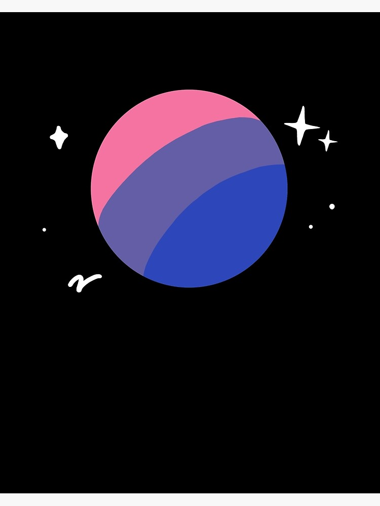 Bisexual Planet Lgbtq Bi Pride Flag Aesthetic Space Art Board Print By Yesqueen Redbubble