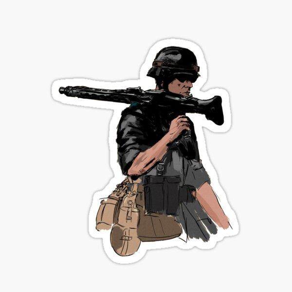 Soldat de la seconde guerre mondiale Sticker