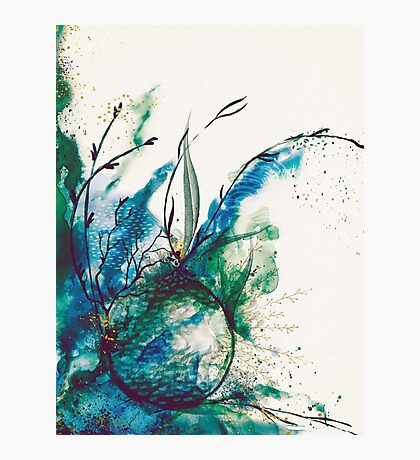 Abstract Sea Watercolour Photographic Print