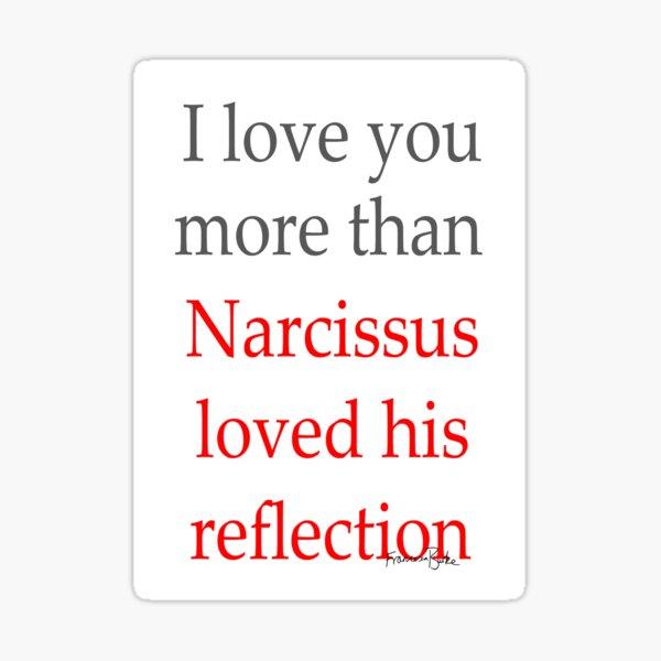Narcissus Valentine's Sticker