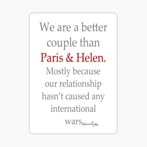 Paris and Helen Valentine's Sticker