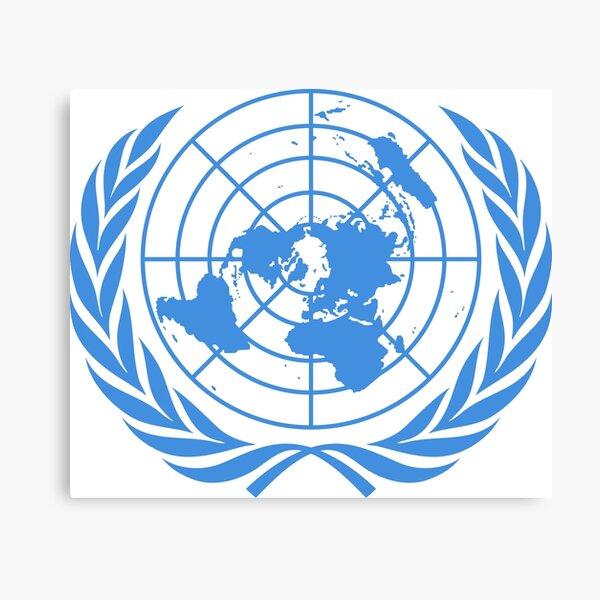 La bandera de las Naciones Unidas - Bandera de la ONU Lienzo