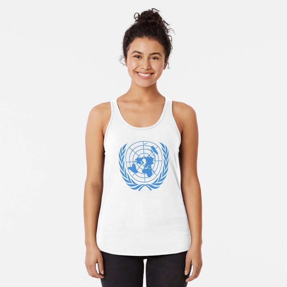 The United Nations Flag - UN Flag Racerback Tank Top