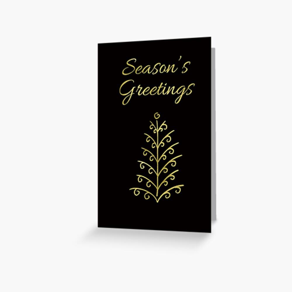 Season's Greetings Holiday Cards Greeting Card