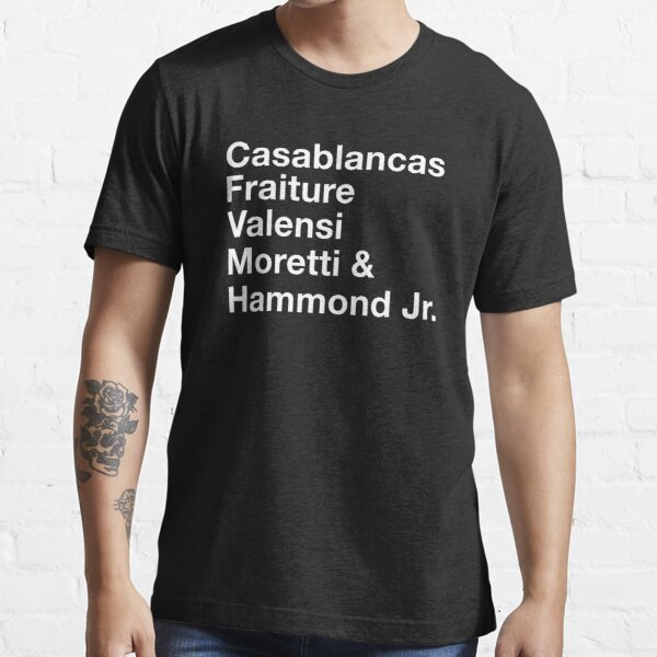 Los apellidos de los trazos (blanco) Camiseta esencial