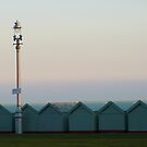 Brighton beach huts and lamp by lukasdf