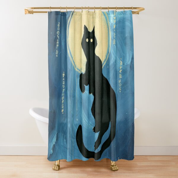Void Cat Shower Curtain
