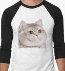 Heavy Breathing Cat- Improved Men's Baseball ¾ T-Shirt