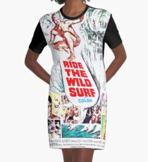 Ride the Wild Surf 1964 Vintage PosterSurf Sport Movie Poster, Artwork, Prints, Posters, Tshirts, Men, Women, Kids Graphic T-Shirt Dress