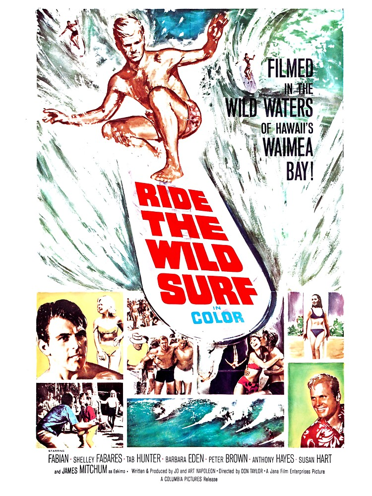 Ride The Wild Surf Movie Canvas Wall Art Picture Print
