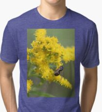 Two Harbors, MN: Bee and Goldenrod Tri-blend T-Shirt