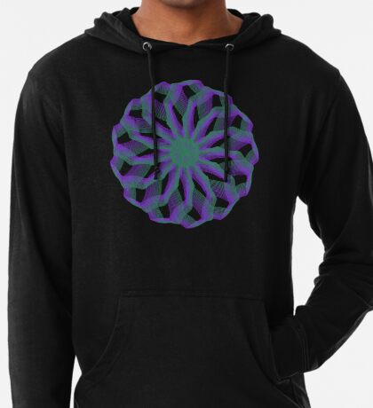Spirograph with green and violet Lightweight Hoodie