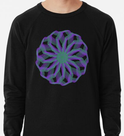 Spirograph with green and violet Lightweight Sweatshirt