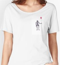 Battlestar Galactica Cylon Centurion with Red Balloon Women's Relaxed Fit T-Shirt