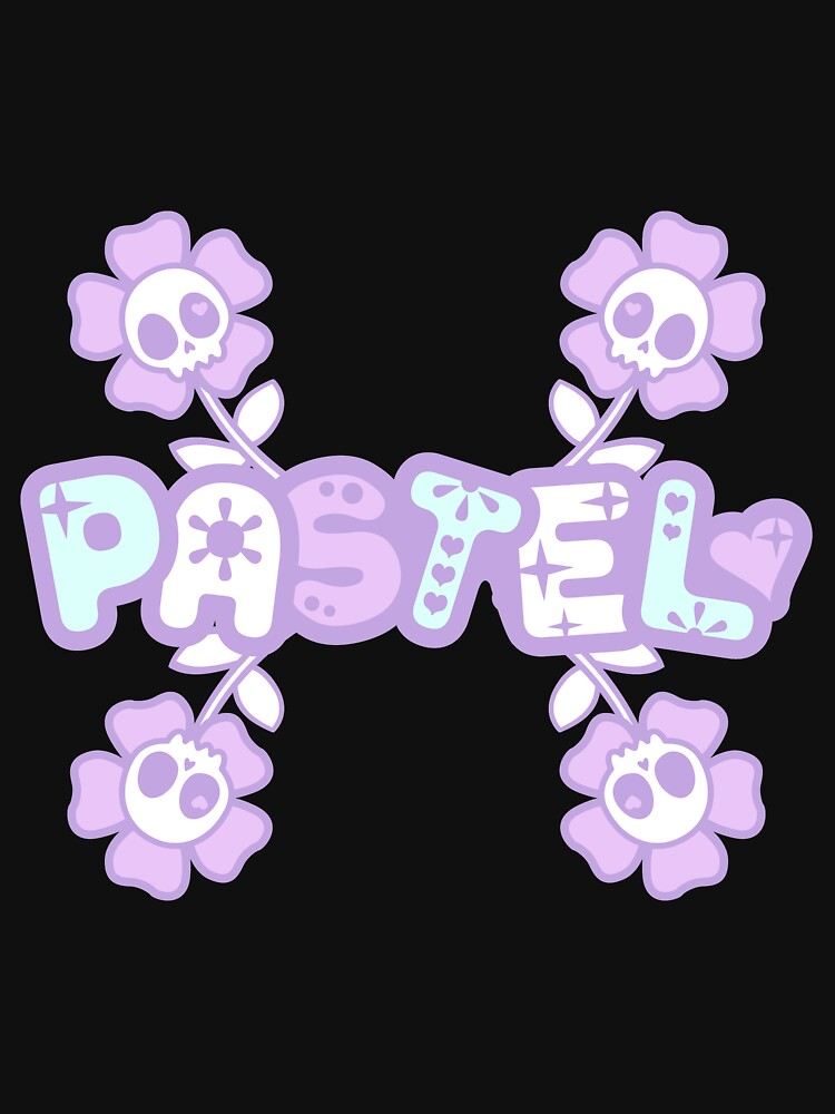 Pastel Creepy Cute Skulls and Flowers by daymarebrand