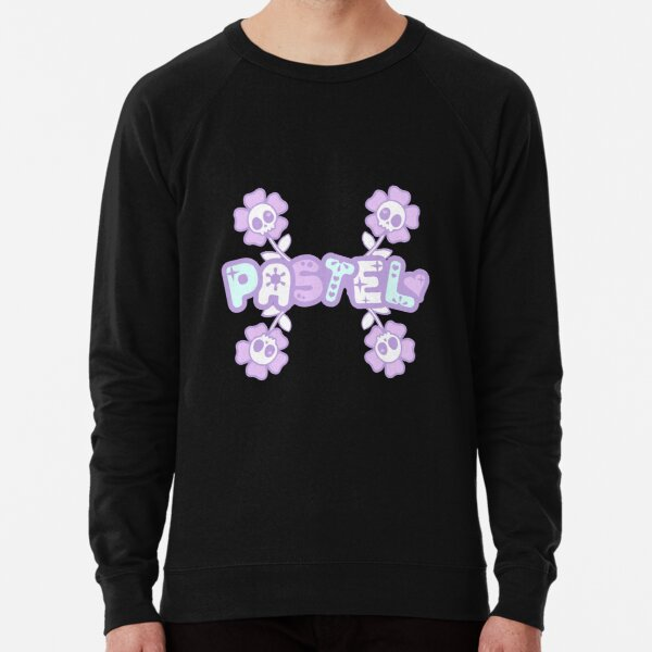 Pastel Creepy Cute Skulls and Flowers Lightweight Sweatshirt