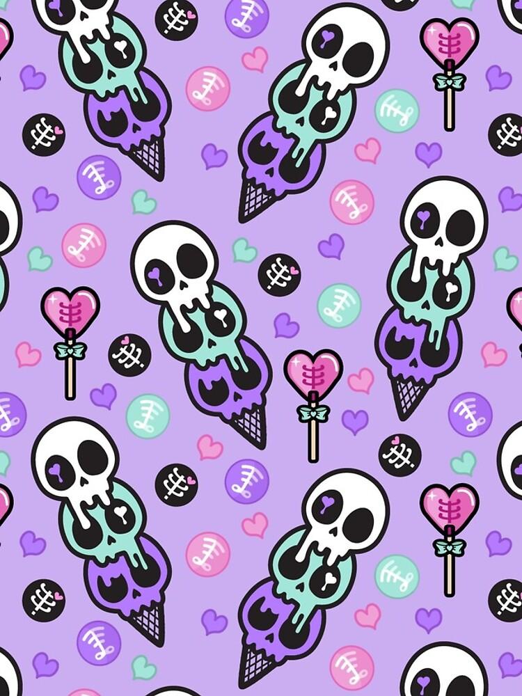 Creepy Cute Skull Ice-cream  by daymarebrand