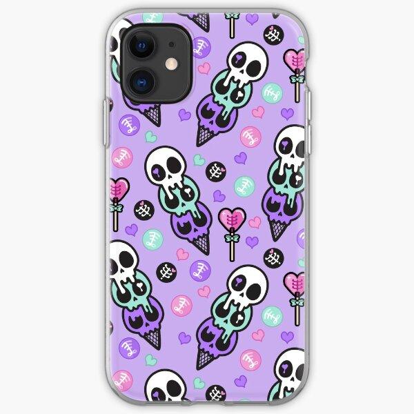 Creepy Cute Skull Ice-cream  iPhone Soft Case