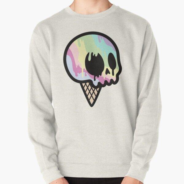 Ice Cream Skull Pullover Sweatshirt