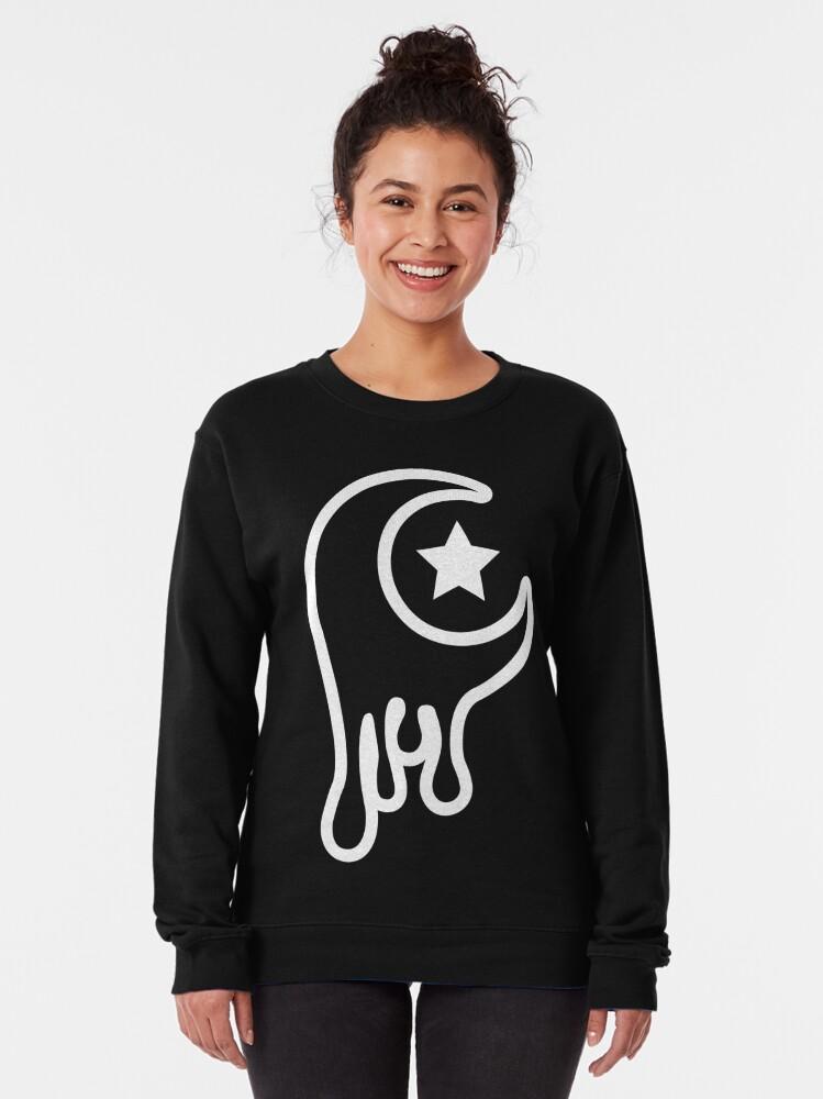 Alternate view of Drippy Moon Pullover Sweatshirt