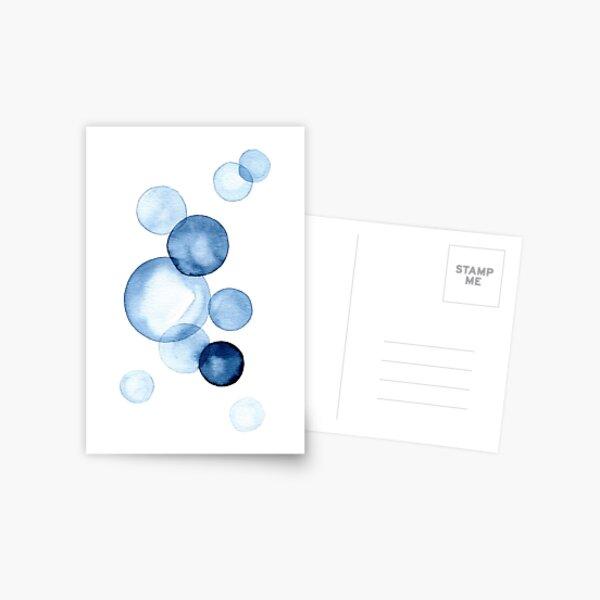 Blue Bubbles Postcard