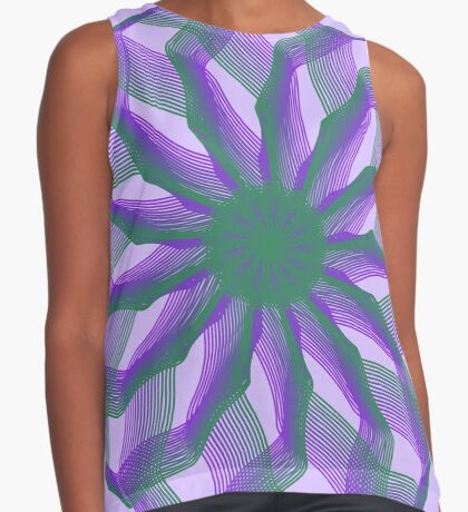 Spirograph with green and violet Sleeveless Top