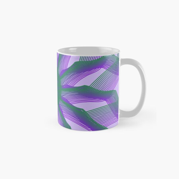 Spirograph with green and violet Classic Mug