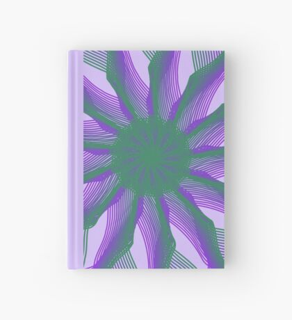 Spirograph with green and violet Hardcover Journal