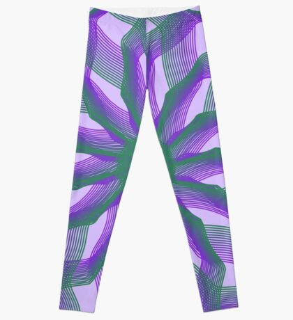 Spirograph with green and violet Leggings