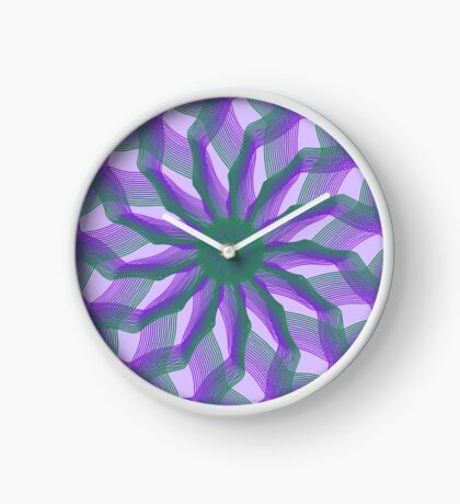 Spirograph with green and violet Clock