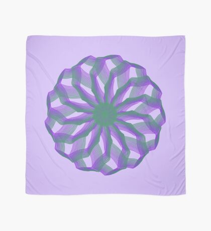 Spirograph with green and violet Scarf