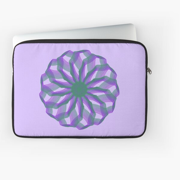 Spirograph with green and violet Laptop Sleeve